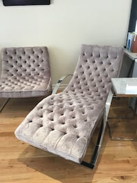 Matching grey chaise and chair. Used as staging furniture only. Originally $3600 Toronto, M4L 3V3