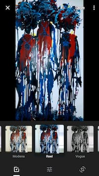 black, red, and blue abstract painting Washington, 20032
