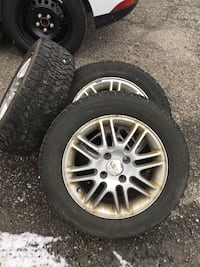 Four Goodyear winter tires 195/60/15