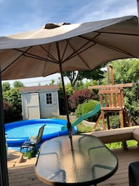 Need it gone today! Huge umbrella & table Markham, L3P 6X4