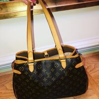 Monogrammed brown louis vuitton leather tote bag Silver Spring, 20906