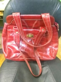red leather 2-way handbag Plainville, 06062