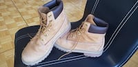 pair of wheat Timberland nubuck work boots Toronto, M3H 4Y2