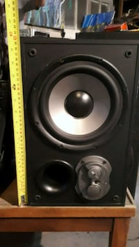 black and gray subwoofer speaker Edmonton, T5E 5A7