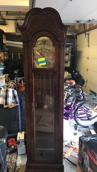 Dark brown ridgeway grandfather clock with all the pieces Totowa, 07512