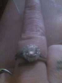 silver-colored diamond ring Kingman, 86409
