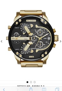 round black chronograph watch with brown leather strap Irvine, 92620