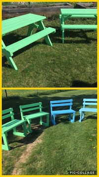 Adult pic nic table and bench for $150 firm St. Albert