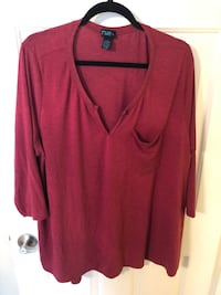 Rue21 plus size 3/4 sleeve top size 3x Sparks, 89434