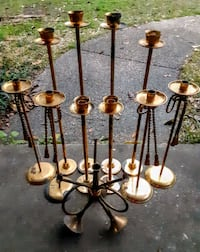Vintage solid brass candle holders