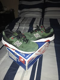 Pair of green-black-and-white New Balance sneakers with box Moreno Valley, 92555