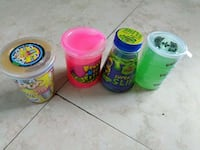 four assorted color plastic containers Miami, 33147