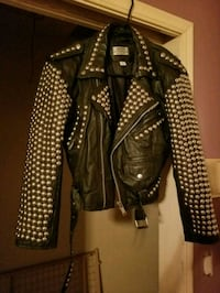 black and white leather jacket Kennesaw, 30144