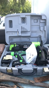 Three power tools in case