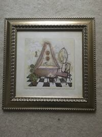 brown wooden framed painting of brown wooden frame Ashburn, 20147