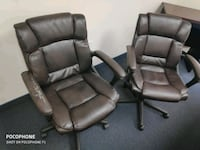 black leather office rolling chair Aldie, 20105
