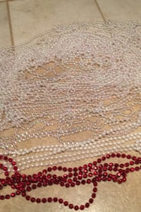 Christmas Decor 8 ft long 'pearl' beads. Ottawa, K4M 1K2