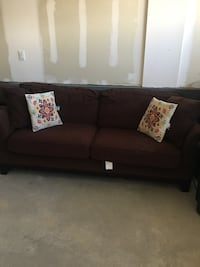 Black fabric 2-seat sofa Denver