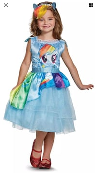 Brand new my Little pony Halloween costume size M(7-8) 852 mi