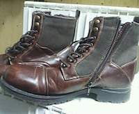pair of brown leather boots Surrey, V3R 1W7