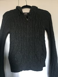 Talula 100% lambswool zip up sweater size S