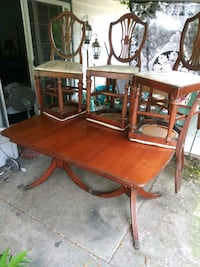 Sale today 1930s dinning table and 6 chairsrs Hillsboro, 97123