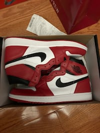 pair of red-and-white Air Jordan 1 Mississauga, L5V 1W4