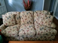 white and pink floral 3-seat sofa Kansas City, 64119