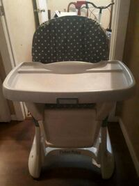 baby's white and gray high chair Calgary, T2E 6A6