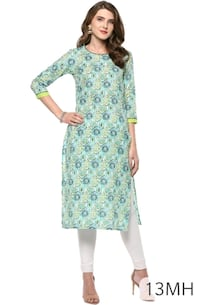 women's green and white floral dress Mumbai, 400011