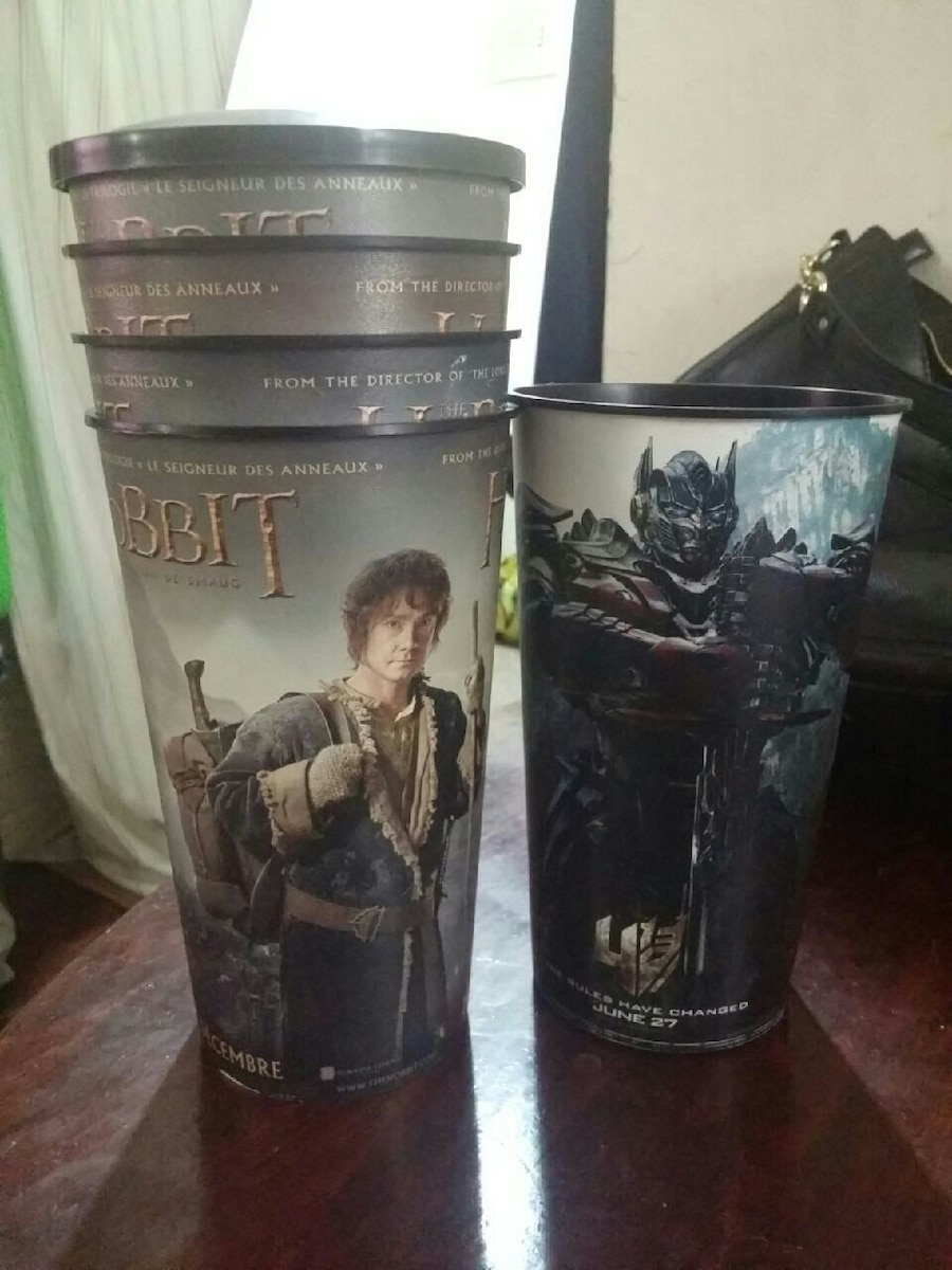 The Hobbit and Tranformers Cups