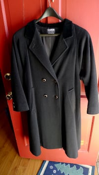 BLACK LADIES KAREN PETITS DOUBLE BREASTED DRESS COAT SIZE 10 Bethesda, MD, USA