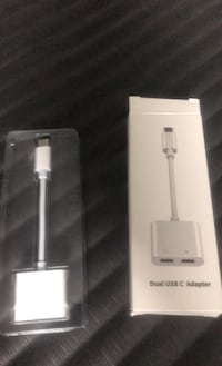 Dual Audio and Charger Adapter Headphone Jack USB C