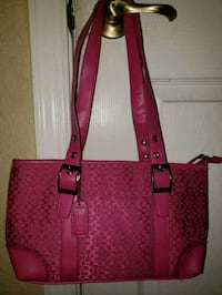 women's red and brown leather tote bag Boynton Beach, 33426