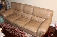 Beautiful, Comfortable Leather (Matching) Couch + Chair 44 km