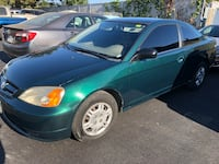 2002 Honda Civic coupe manual gas saver Menlo Park, 94025