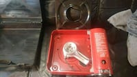 Never used butane cooking stove with case