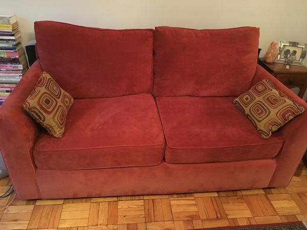 Full size sofa sleeper. With memory foam mattress. Beautiful color. Excellent condition