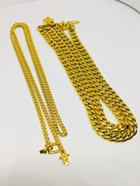 ***Miami Cuban  24 Inch Double Clasp Chain & Necklace***