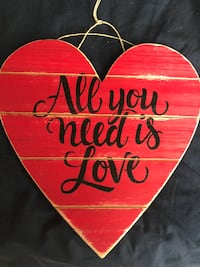 All You Need Is Love Sign DRAPER