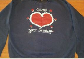 Size large COUNT YOUR BLESSINGS sweatshirt
