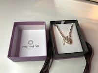 Brand new, Michael hill, silver heart charm necklace Abbotsford, V3G 2W9