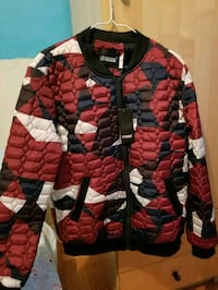 red and black zip-up jacket Toronto, M6K 2E2