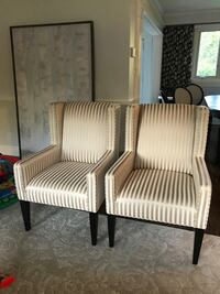 Two white wooden framed armchairs Toronto, M9R 2T3