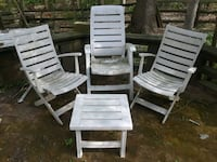 $500 Folding outdoor chairs set by Grosfillex-PREM Bethesda, 20814