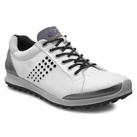 Gray yak leather  white eco shoes for golfing San Diego, 92101
