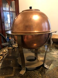 Antique collectible copper coffee/tea kettle