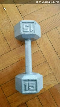dumbbell 15 lb only  one