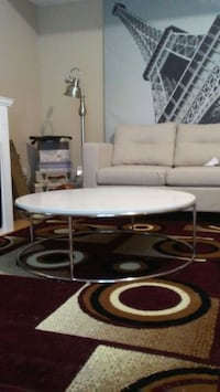 Round White Enamel Coffee Table160 Surrey, V3S 3T1