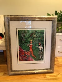 Le Cirque Vert, Limited Edition Giclee, Marc Chagall, matted and frame Washington, 20009
